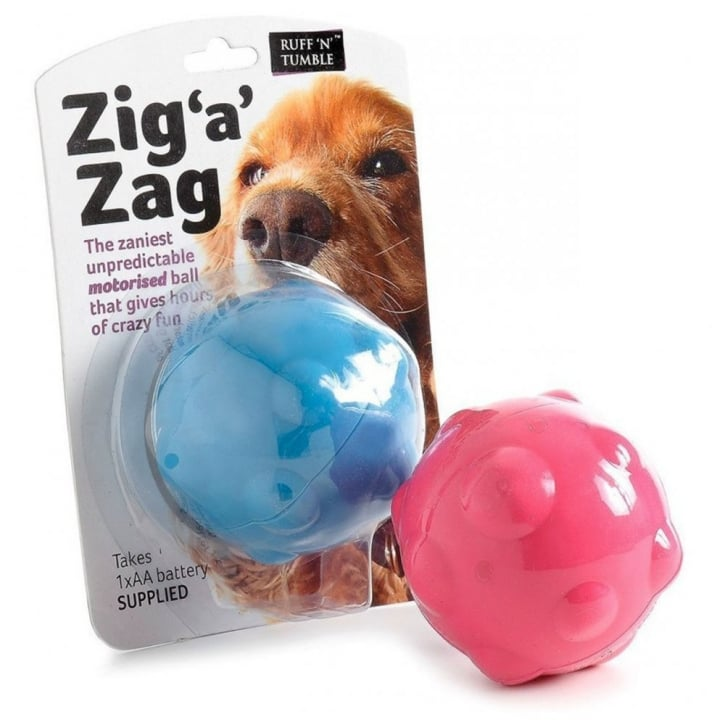 Sharples 'N' Grant Ruff 'N' Tumble Zig A Zag Ball Dog Toy 8.8cm