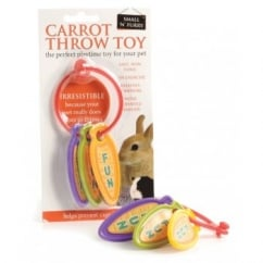 Small 'N' Furry Rabbit Carrot Throw Toy