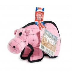Sharples 'N' Grant Strong Stuff Hippo Plush Dog Toy