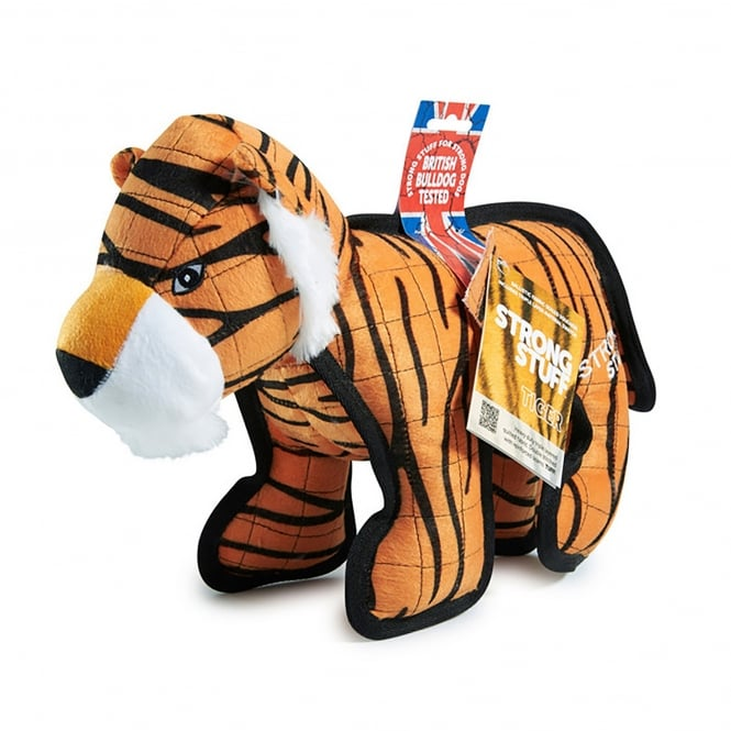 Sharples 'N' Grant Strong Stuff Tiger Plush Dog Toy