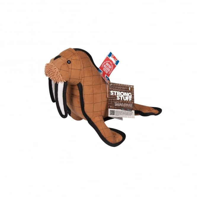 Sharples 'N' Grant Strong Stuff Walrus Plush Dog Toy