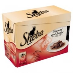 Sheba Pouch Cat Food - Fine Dining Collection Meat- 12 x 85gm