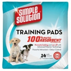 Simple Solution Puppy Dog Training Pads- 14 Pack Size