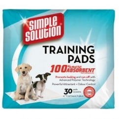 Simple Solution Puppy Dog Training Pads - 30 Pack Size