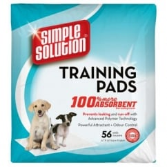 Simple Solution Puppy Dog Training Pads- 56 Pack Size
