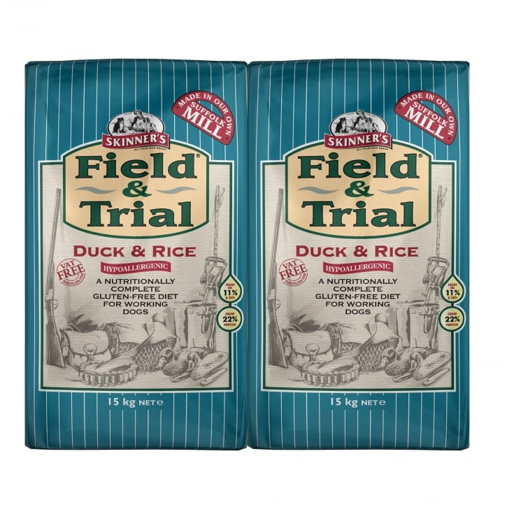 Skinner's Field & Trial Duck & Rice Sensitive Adult Dog Food 2 x 15kg