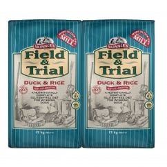 Field & Trial Duck & Rice Sensitive Adult Dog Food 2 x 15kg