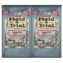 Field & Trial Turkey & Rice Adult Working Dog Food 2 x 15kg