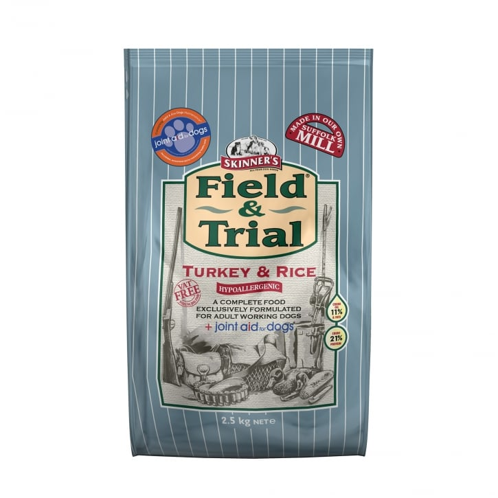 Skinner's Field & Trial Turkey & Rice Working Dog Food 2.5kg