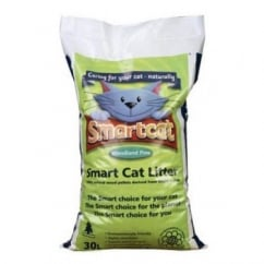 Smart Cat Wood Flour Based Cat Litter 30Litre approx (18kg)
