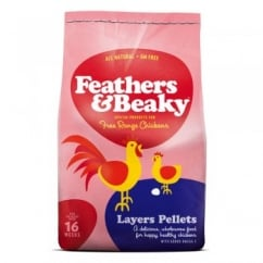 Feathers & Beaky Free Range Layers Pellets - 15kg