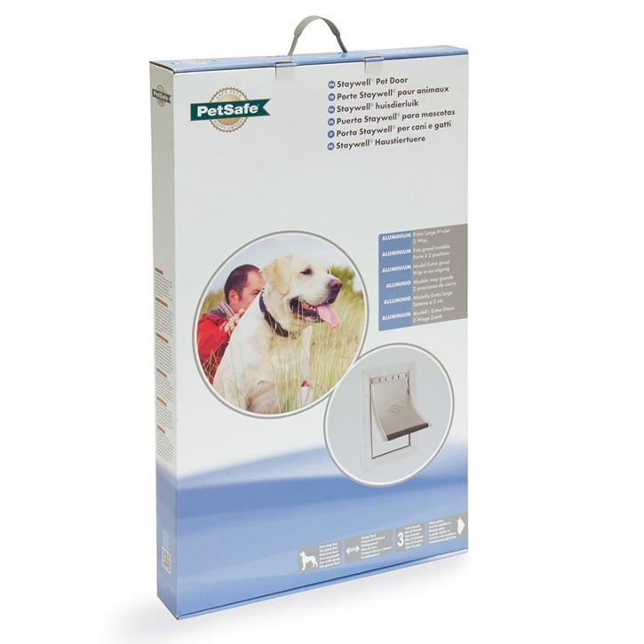 Staywell Aluminium Pet Door (Extra Large) White - 660ML