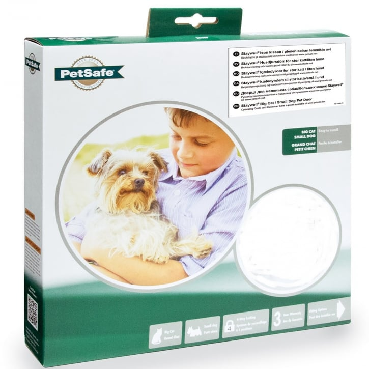 Staywell Big Cat/Small Dog Pet Door Frosted - 270EF