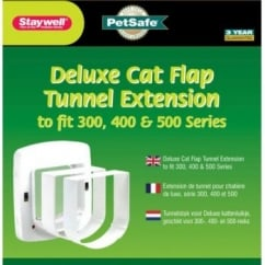 Staywell 310 Cat Flap Tunnel Extension - White