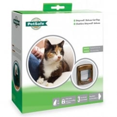 Staywell 320 Ef 4 Way Locking Cat Flap - Woodgrain