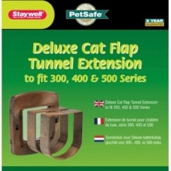 Staywell 330 Cat Flap Tunnel Extension - Woodgrain