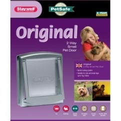 Staywell 737ef Original Two Way Small Size Dog Door - Silver