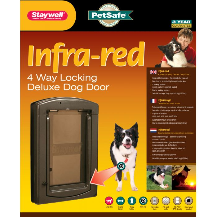 Staywell 861 Infra Red Dog Door With Security Barrier.