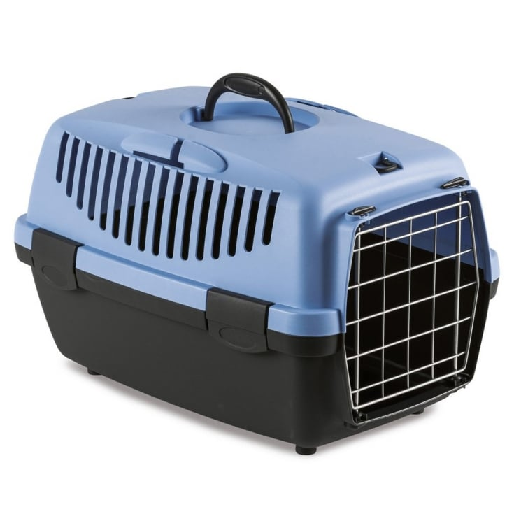 Stefanplast Gulliver 1 Cat & Small Dog Carrier with Metal Door - Blue