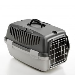 Gulliver 1 Cat & Small Dog Carrier with Metal Door - Dark Grey