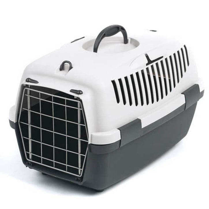 Stefanplast Gulliver 1 Cat & Small Dog Carrier with Metal Door - Grey
