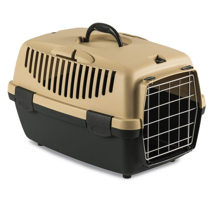 Stefanplast Gulliver 1 Cat & Small Dog Carrier with Metal Door - Sand