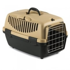 Gulliver 1 Cat & Small Dog Carrier with Metal Door - Sand
