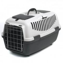 Stefanplast Gulliver 2 Cat & Small Dog Carrier Metal Door- Grey