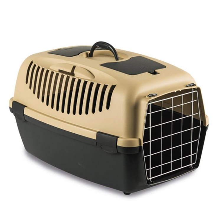 Stefanplast Gulliver 2 Cat & Small Dog Carrier with Metal Door - Sand
