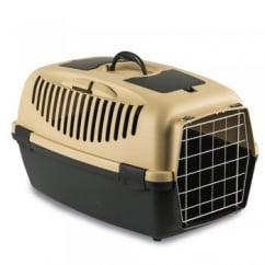 Gulliver 2 Cat & Small Dog Carrier with Metal Door - Sand