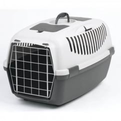Stefanplast Gulliver 3 Cat & Small Dog Carrier Metal Door- Grey