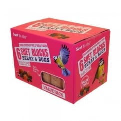 Suet To Go Berry & Bugs Suet Blocks Value Pack of 6