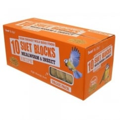Mealworm & Insect Suet Blocks Value Pack of 10