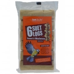 Suet Logs Insect & Mealworm Pack 6