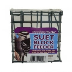 Suet To Go Wild Bird Wire Suet Block Feeder