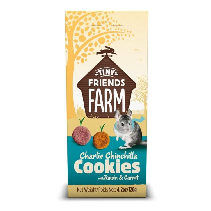 Supreme Tiny Friends Farm Charlie Chinchilla Cookies Raisin & Carrot 120g