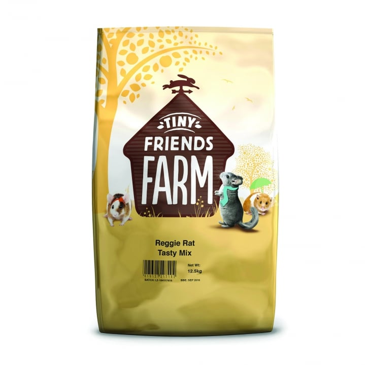 Supreme Tiny Friends Farm Reggie Rat & Mimi Mouse Tasty Mix 12.5kg
