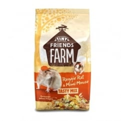 Tiny Friends Farm Reggie Rat & Mimi Mouse Tasty Mix 2.5kg