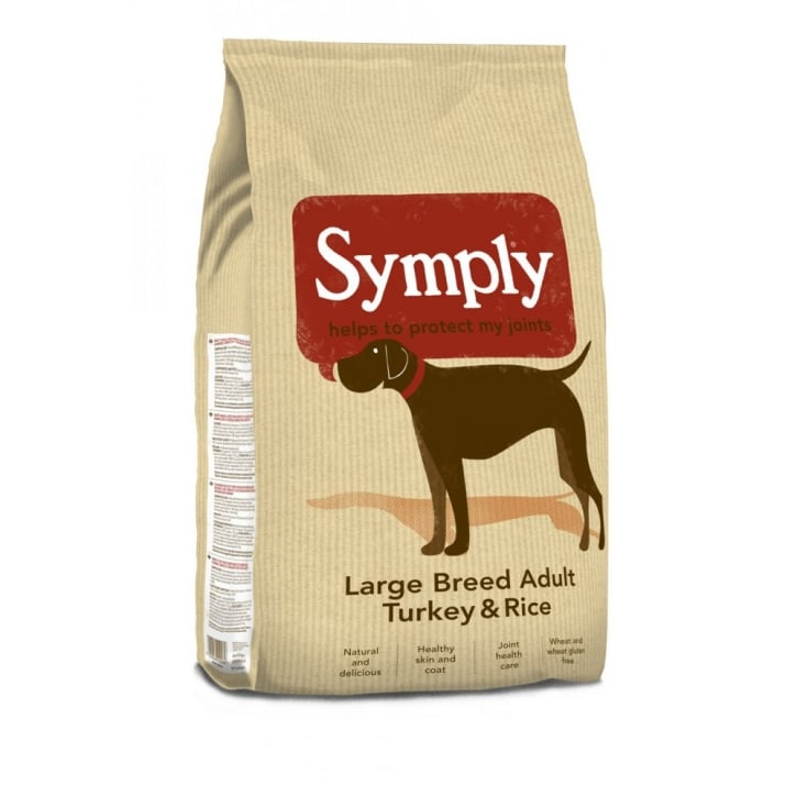 Symply Large Breed Adult Dog Food Turkey & Rice 2kg