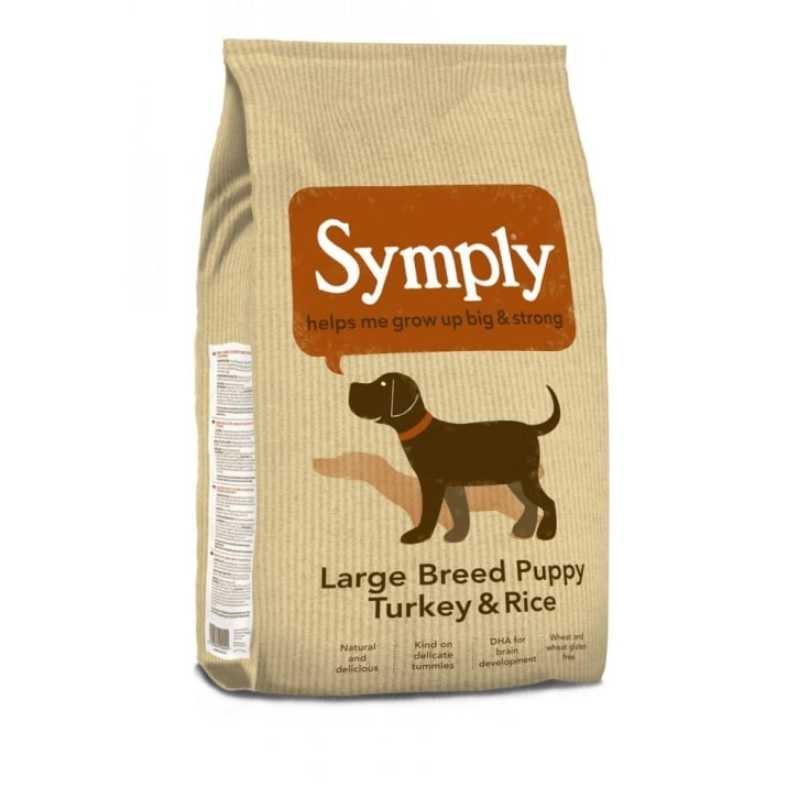 Symply Large Breed Puppy Dog Food Turkey & Rice 12kg