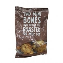 Woof & Chew Beef Mini Bone Pack 2 Piece