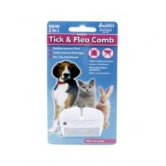 2-1 Tick & Flea Comb for Dogs, Cats & Rabbits