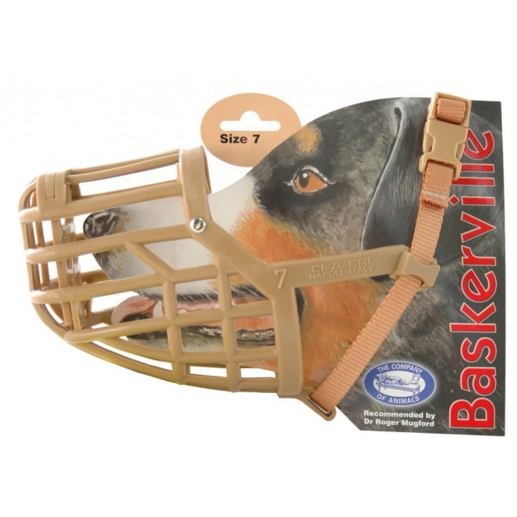 Company of Animals Baskerville Dog Muzzle Size 7 Springer