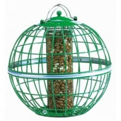 Squirrel & Predator Proof Globe Peanut Feeder Green