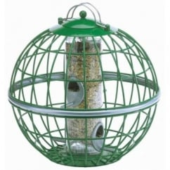 Squirrel & Predator Proof Globe Seed Feeder Green