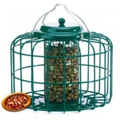 The Nuttery Squirrel & Predator Proof Mini Peanut Feeder Green.