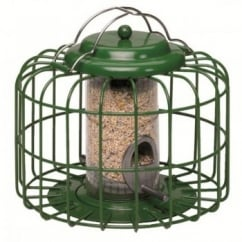 The Nuttery Squirrel & Predator Proof Mini Seed Feeder Green.