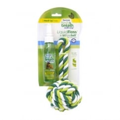 Tropiclean Fresh Breath LiquidFloss & Trifloss Ball for Medium/Large Dogs