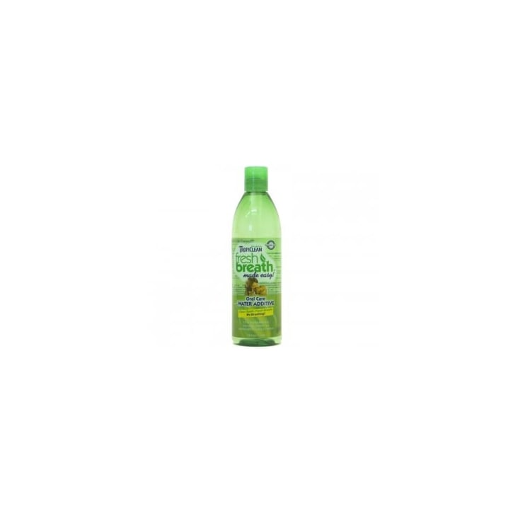 Tropiclean fresh breath oral care water additive 473ml for Dog dental water additive