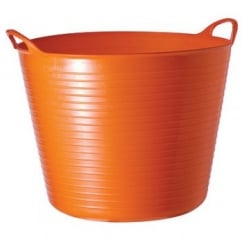 Flexible Multi-Purpose Bucket Large 38 Litre Orange
